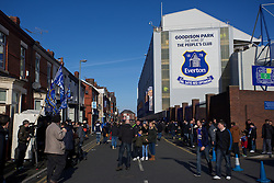 LIVERPOOL, ENGLAND - Sunday, February 16, 2014: A general view as fans make their way to Goodison Park before the FA Cup 5th Round match at Goodison Park between Everton and Swansea City(Pic by David Rawcliffe/Propaganda)