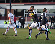 Dundee&rsquo;s Kane Hemmings celebrates after scoring the equaliser - Dundee v Inverness Caledonian Thistle - Ladbrokes Scottish Premiership at Dens Park<br /> <br />  - &copy; David Young - www.davidyoungphoto.co.uk - email: davidyoungphoto@gmail.com