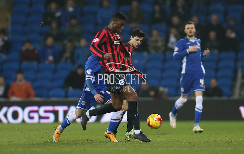 Rohan Ince, Brighton midfielder during the Sky Bet Championship match between Cardiff City and Brighton and Hove Albion at the Cardiff City Stadium, Cardiff, Wales on 10 February 2015.