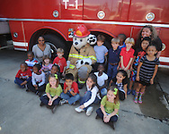 Bramlett Elementary students visit the Oxford Fire Department to learn about fire safety in Oxford, Miss. on Monday, October 18, 2010.