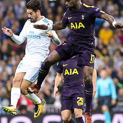 Isco of of Real Madrid in action during Uefa Champions League (Group H) match between Real Madrid and Tottenham Hotspur at Santiago Bernabeu Stadium on October 17, 2017 in Madrid  (Spain) (Photo by Luis de la Mata / SportPix.org.uk)