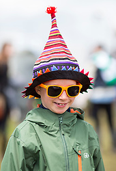 © Licensed to London News Pictures. 24/06/16. Freddie Hall 8 enjoys the sunny weather today at the Glastonbury Festival in Pilton, Somerset. Photo credit should read Brad Wakefield/LNP