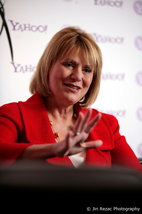 UK ENGLAND LONDON 28APR10 - Carol Bartz, CEO of Yahoo during a press briefing at the Tate Modern in central London. ..jre/Photo by Jiri Rezac..© Jiri Rezac 2010