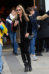 Kate Moss and daughter Lila Grace are going to Zara shop. Paris, January 17th Photo by Abacapress.com