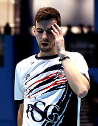 Chris Coles (Capt) of Bristol Jets looks frustrated - Photo mandatory by-line: Robbie Stephenson/JMP - 07/11/2016 - BADMINTON - University of Derby - Derby, England - Team Derby v Bristol Jets - AJ Bell National Badminton League