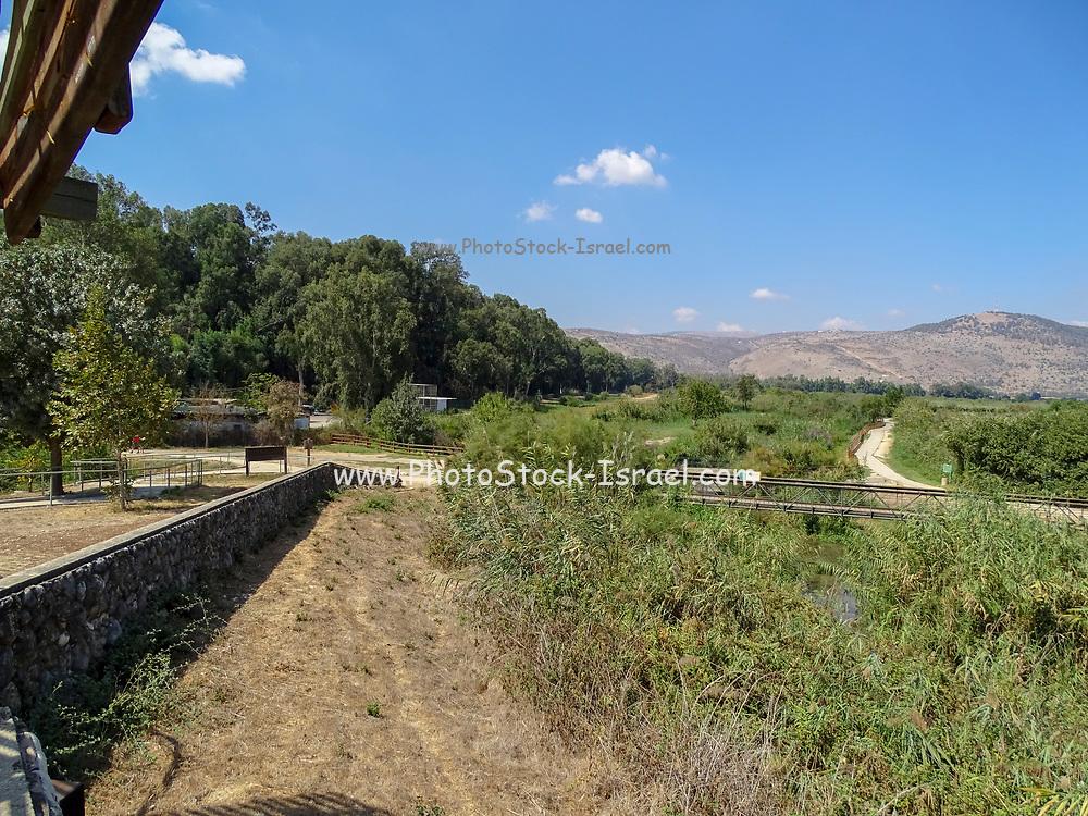 Israel, Hula Valley, Agmon lake landscape