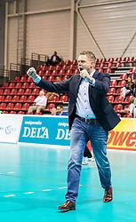 20151011 NED: Supercup Landstede Volleybal - Abiant Lycurgus,  Doetinchem<br /> De volleyballers van Lycurgus hebben op overtuigende wijze de Supercup veroverd. In Doetinchem werd landskampioen en bekerwinnaar Landstede met duidelijke cijfers geklopt: 25-16, 25-17, 25-19 / Coach Arjan Taaij