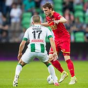 GRONINGEN, 17-05-2017, FC Groningen - AZ,  Noordlease Stadion, FC Groningen speler Jesper Drost, AZ speler Thomas Ouwejan