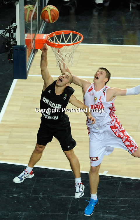 Russia vs New Zealand, Day 10 of the<br /> 2010 FIBA World Championship<br /> in Istanbul, Turkey, 06 September<br /> 2010, Eighth-Finals round