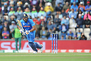 Rohit Sharma of India batting during the ICC Cricket World Cup 2019 match between South Africa and India at the Hampshire Bowl, Southampton, United Kingdom on 5 June 2019.