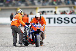 November 17, 2019, Cheste, VALENCIA, SPAIN: Iker Lecuina, of Red Bull KTM Tech 3 from Spain, bike after a crash during the Race of the Valencia Grand Prix of MotoGP World Championship celebrated at Circuit Ricardo Tormo on November 16, 2019, in Cheste, Spain. (Credit Image: © AFP7 via ZUMA Wire)