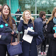London,England,UK : 26th April 2016 : Junior doctors forced to escalate action as Government refuses to end dispute through talks outsude University College Hospital, London. Photo by See Li