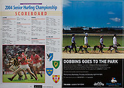 All Ireland Senior Hurling Championship Final,.12.09.2004, 09.12.2004, 12th September 2004,.Senior Cork 0-7, Kilkenny 0-9,.Minor Kilkenny 1-18 ,  Galway 3-12 (draw),.12092004AISHCF,.
