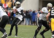 15 NOVEMBER 2008: Purdue quarterback Justin Siller (5) in the second half of an NCAA college football game against Purdue, at Kinnick Stadium in Iowa City, Iowa on Saturday Nov. 15, 2008. Iowa beat Purdue 22-17.