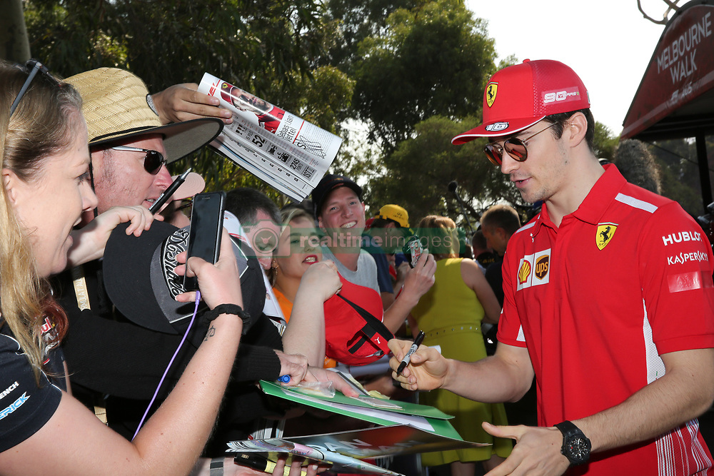 March 16, 2019 - CHARLES LECLERC arriving for Qualifying Saturday at the 2019 Formula 1 Australian Grand Prix on March 16, 2019 In Melbourne, Australia  (Credit Image: © Christopher Khoury/Australian Press Agency via ZUMA  Wire)
