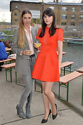 Left to right, AMBER LE BON and LILAH PARSONS at a supper and screening of 'No More Tiaras' a film by Mary Nighy held at Shrimpy's, King's Cross Filling Station, Goods Way, London on 7th May 2014.