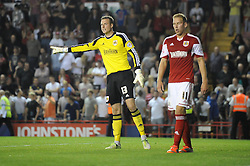 Bristol City's Elliott Parish  - Photo mandatory by-line: Dougie Allward/JMP - Tel: Mobile: 07966 386802 04/09/2013 - SPORT - FOOTBALL -  Ashton Gate - Bristol - Bristol City V Bristol Rovers - Johnstone Paint Trophy - First Round - Bristol Derby