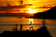 Beluga Point Turnagain Arm Sunset near Anchorage Alaska