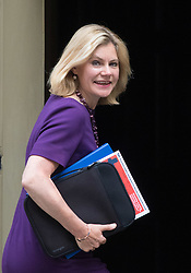 London, June 20th 2017. Education Secretary Justine Greening attends the weekly cabinet meeting at 10 Downing Street in London.