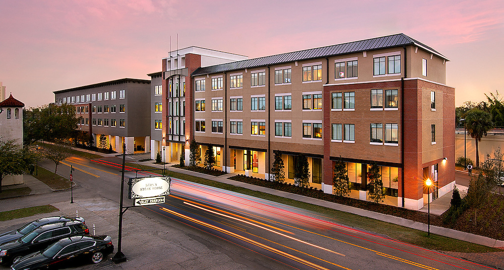 One of my favorite Florida Hotel Photography projects, a twilight exterior photo of The Epicurean Hotel in Tampa, Florida. This was shot from the roof of the world famous Bern's Steak House, where heavy aromas of grilling steak tortured me while I worked.
