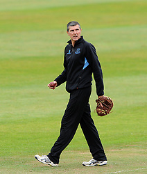 Sussex's Coach Mark Robinson - Photo mandatory by-line: Harry Trump/JMP - Mobile: 07966 386802 - 08/07/15 - SPORT - CRICKET - LVCC - County Championship Division One - Somerset v Sussex- Day Four - The County Ground, Taunton, England.