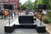 Gaylord Fields spins at Maxwell's Block Party