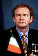 Irish Sinn Fein leader Martin McGinnis September 3, 1997 in Washington, DC.