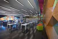 Architectural interior photo of Washington DC Francis Gregory Neighborhod Library by Jeffrey Sauers of Commercial Photographics