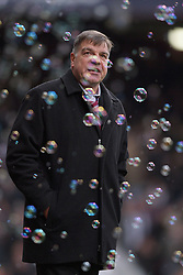 SAM ALLARDYCE CELEBRATES WINNING GOAL.WEST HAM UNITED V CHELSEA.WEST HAM UNITED V CHELSEA. BARCLAYS PREMIER LEAGUE.LONDON, ENGLAND, UK.01 December 2012.GAP62914..  .WARNING! This Photograph May Only Be Used For Newspaper And/Or Magazine Editorial Purposes..May Not Be Used For Publications Involving 1 player, 1 Club Or 1 Competition .Without Written Authorisation From Football DataCo Ltd..For Any Queries, Please Contact Football DataCo Ltd on +44 (0) 207 864 9121