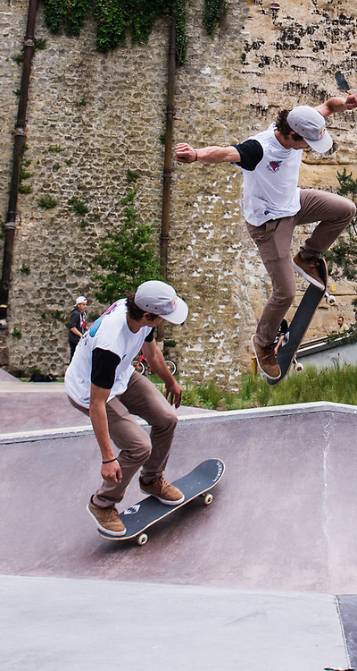 Danny Leon perform during Red Bull 3en1 at Skatepark Péitruss, Luxembourg, Luxembourg, June 3, 2017.
