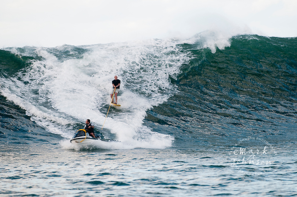 Tow-in Surfing, Hawaii