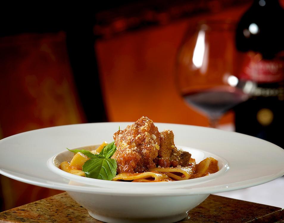 Paccheri con Costatine di Maiale alla Calabrese (Pork Ragu with Paccheri Pasta)