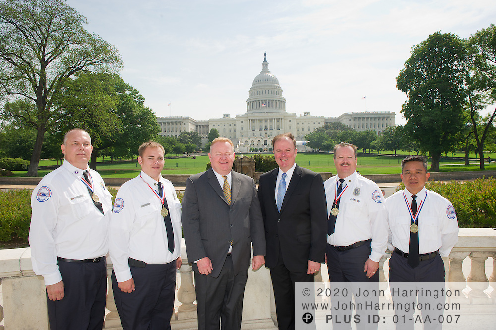 Group portraits of the American Ambulance Association in from of the US Capitol Building on May 3rd, 2011.