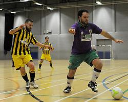 BCFC Futsal takes control of possession against Gloucestershire Futsal  - Photo mandatory by-line: Nizaam Jones - Mobile: 07966 386802 - 08/02/2015 - SPORT - Football - Gloucestershire - GL1 Leisure Centre - Gloucestershire Futsal v BCFC Futsal - Futsal