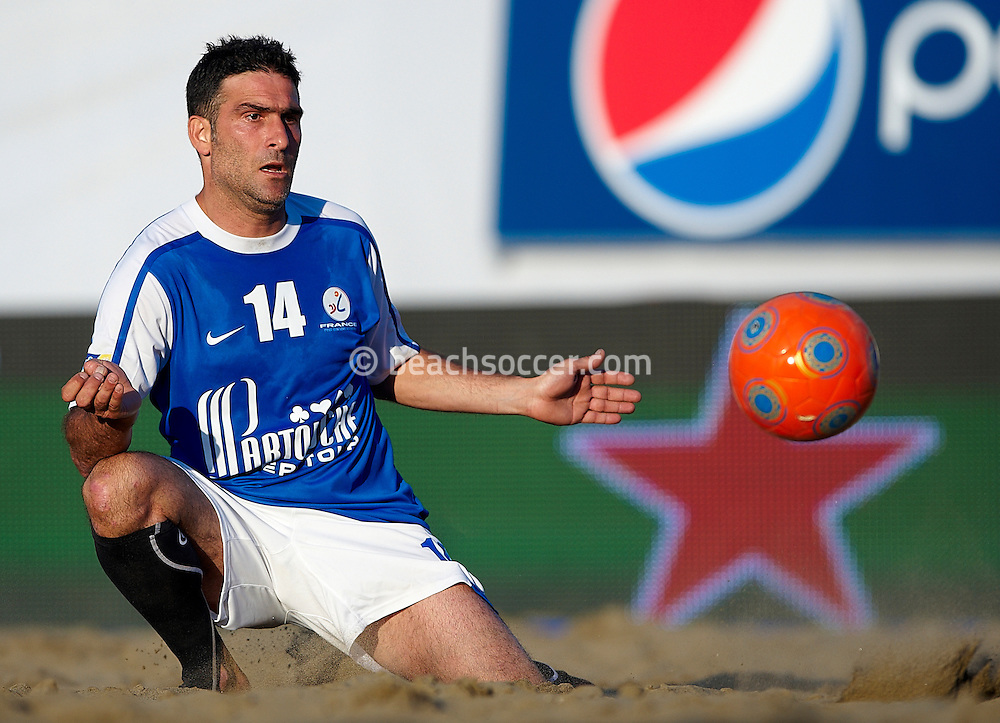 ROME, ITALY - JUNE 05: Euro Beach Soccer Cup Rome 2010 on June 05, 2010 in Rome, Italy. (Photo by Manuel Queimadelos)