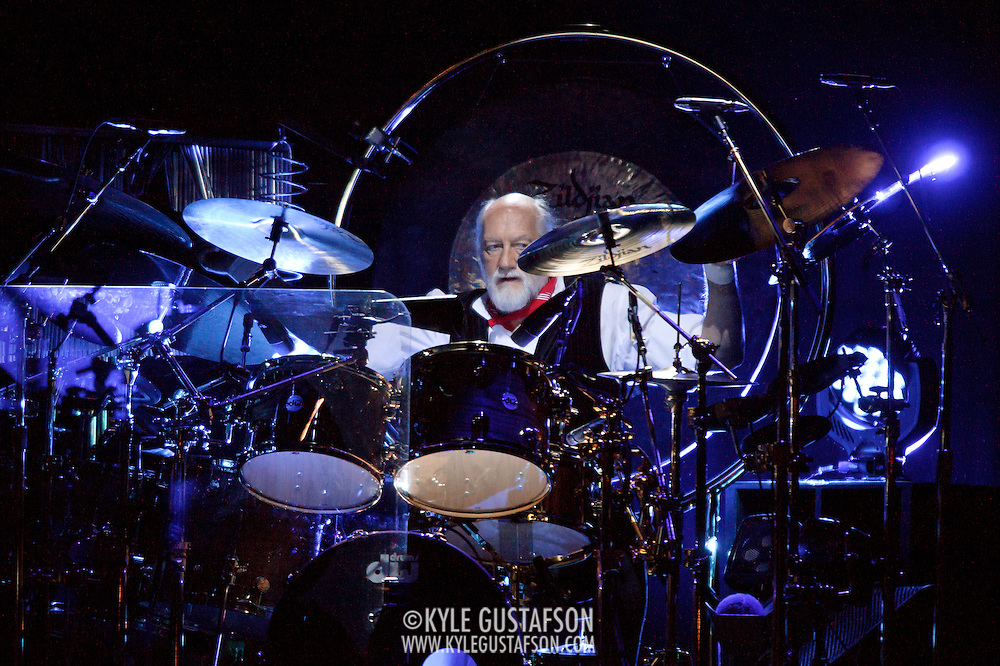 """WASHINGTON, DC - April 9th  2013 -  Mick Fleetwood of Fleetwood Mac performs at the Verizon Center in Washington, D.C. during the band's 2013 World Tour. Fleetwood Mac, touring for the first time since 2009, is including two new songs in their setlist, """"Sad Angel"""" and """"Without You."""" (Photo by Kyle Gustafson/For The Washington Post)"""