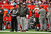 Tampa Bay buccaneers Head Coach Bruce Arians during the International Series match between Tampa Bay Buccaneers and Carolina Panthers at Tottenham Hotspur Stadium, London, United Kingdom on 13 October 2019.