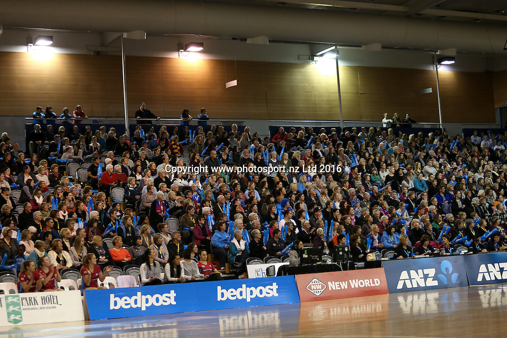 A general view of the crowd during the ANZ Championship netball match between the Southern Steel and Northern Mystics, Edgar Centre, Dunedin, Sunday, May 29, 2016. Photo: Dianne Manson / www.photosport.nz