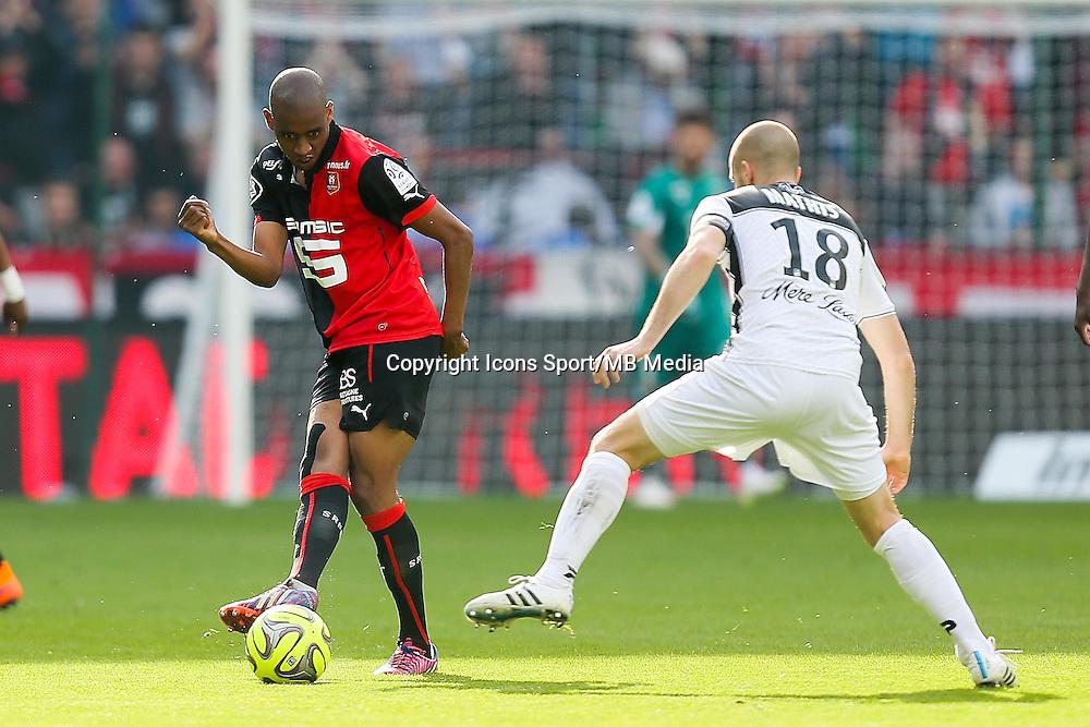 Gelson FERNANDES - 12.04.2015 - Rennes / Guingamp - 32eme journee de Ligue 1 <br /> Photo : Vincent Michel / Icon Sport