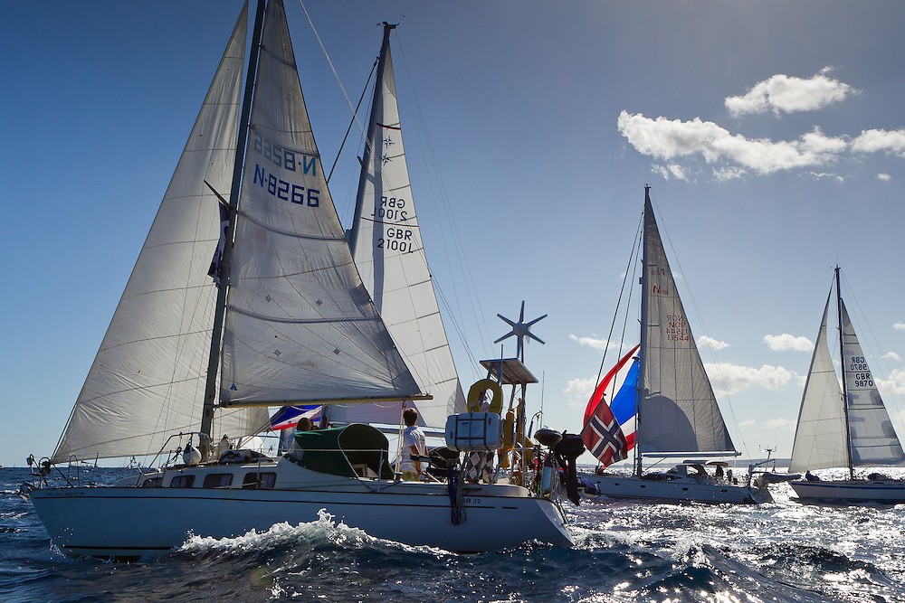 SPAIN, Gran Canaria, Las Palmas. 20th November 2011. ARC Start. Cruiser start.