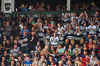 KELOWNA, CANADA - APRIL 23: Seattle Thunderbirds fans cheer a goal against the Kelowna Rockets on April 23, 2016 at Prospera Place in Kelowna, British Columbia, Canada.  (Photo by Marissa Baecker/Shoot the Breeze)  *** Local Caption ***