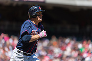 Justin Morneau #33 of the Minnesota Twins runs to 1st base against the Baltimore Orioles on May 12, 2013 at Target Field in Minneapolis, Minnesota.  The Orioles defeated the Twins 6 to 0.  Photo: Ben Krause