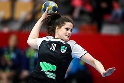 Natasa Ljepoja of RK Zagorje during handball match between RK Zagorje and RK Krim Mercator in Final game of Slovenian Women Handball Cup 2017/18, on April 1, 2018 in Park Kodeljevo, Ljubljana, Slovenia. Photo by Matic Klansek Velej / Sportida