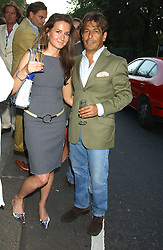 IRINA SOKOLOVA and MICKY DE FERNANDES at a party to launch the Acqualuna jewellery exhibition at Allegra Hicks, 28 Cadogan Place, London on 22nd June 2005.<br /><br />NON EXCLUSIVE - WORLD RIGHTS
