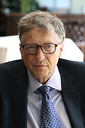 August 10, 2017 - Dar es Salaam, Tanzania - Bill Gates, American philanthropist, responds to a question during an interview. Visiting Tanzania, Gates discussed his  vision for Africa's development and announced a 5 million investment that will digitize Tanzania's health information systems to improve health data in the country one of a number of grants his foundation will make in Tanzania. (Credit Image: © Ric Francis via ZUMA Wire)