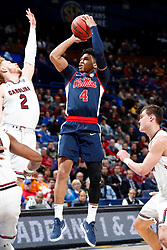 ST. LOUIS, Mo., -- Game 02 of the 2018 SEC Men's Basketball Tournament played between Ole Miss and South Carolina, Wednesday, March 07, 2018 at the Scott Trade Center in ST. LOUIS.