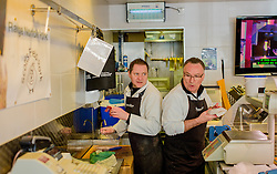 ©Licensed to i-Images Picture Agency. 27/03/2015. Icarus Butchers, Cromer, Conservative Campaign in East Anglia. Picture by Andrew Parsons / i-Images
