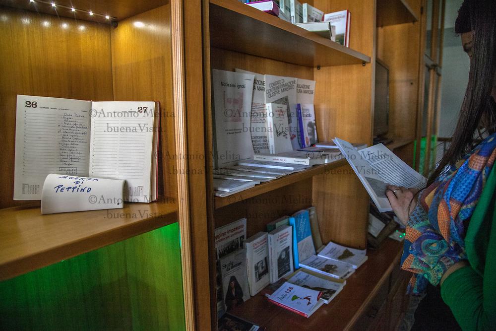 Cinisi (Pa): la libreria della casa di Peppino Impastato.