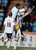 Photo: Ed Godden.<br />Coventry City v Derby County. Coca Cola Championship. 11/11/2006. Derby players celebrate with goal scorer Steve Howard.