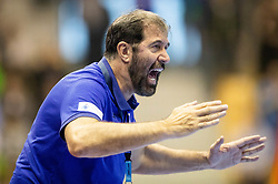 Veselin Vujovic, head coach of Slovenia during handball match between National teams of Slovenia and Netherlands in Qualifications of 2020 Men's EHF EURO, on April 14, 2019, in Arena Zlatorog, Celje, Slovenia. Photo by Vid Ponikvar / Sportida